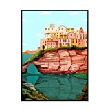 IUYTRF Póster de lienzo artístico de Cerdeña, decoración del hogar, carteles de pintura, arte de pared para sala de estar, impresiones en lienzo, decoración del hogar, 50X70 cm, sin marco, 1 Uds.