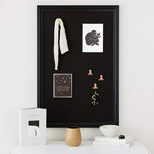 Cork Board with Wood Frame, Multiple Sizes | Bulletin Board | Pin Board | Memo Board | Corkboard | Vision Board Supplies | Cork Board | Cork Board Bulletin Board | Cork Boards | (Black, 30X20) Photo #2