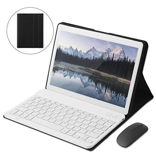 KISEDAR Tablet PC de 10 Pulgadas Android 9.0 4GB RAM / 64GB / 8000AH / Tarjeta SIM Dual/GPS/WiFi/Teclado Bluetooth/Mouse/Cubierta para Tablet PC, etc.-Blanco