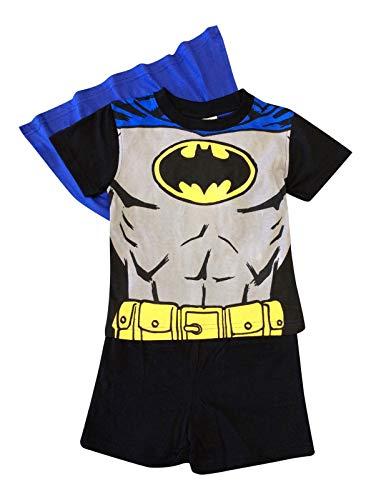 Batman Jungen Schlafanzug Schwarz Schwarz One Size Gr. 2 Jahre, Schwarz
