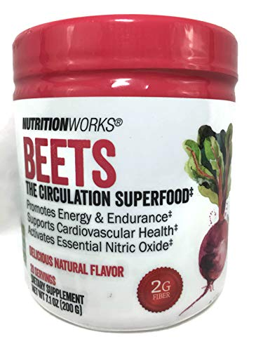 Beets - Circulation Superfood. Powdered Drink Mix for Energy and Endurance. All Natural. Vegan & Gluten Free.