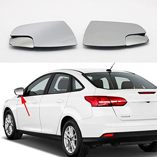 BYWWANG Cristal de Espejo retrovisor Lateral de Puerta de ala con calefacción Lateral Izquierda Derecha automática para Ford Focus 2012 2013 2014 2015 2016 2017