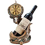 Elk Relojes Estantes de Resina para Vino Soporte para Vino Adornos para gabinetes de Vino Artesanías de Resina Decoración de Cocina Decoración del hogar (20.5cm x 11cm x 35cm)