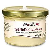 Die Trüffelmanufaktur - Trüffel Hollandaise Soße, Feinkost Trüffelcreme mit 10% echtem schwarzem Trüffel, Trüffelhollandaise Sauce für Spargel, Gemüse, Fisch & Fleisch, Trüffelsoße...