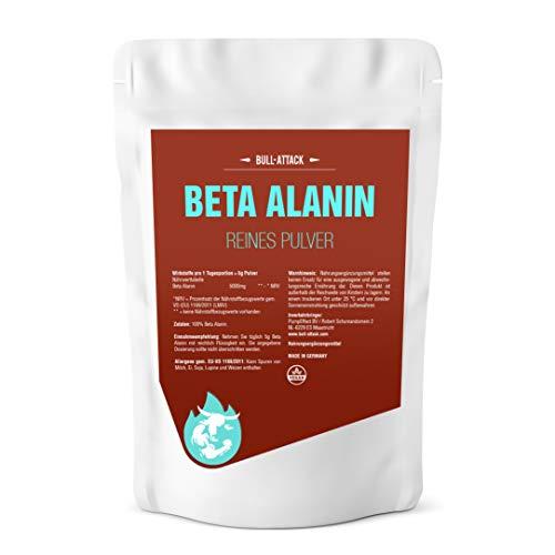 Beta Alanin Pulver - 1000g reines, hochwertiges Pulver - Steigert Carnosin-Produktion, Kraft + Ausdauer - Für den Muskelaufbau in Premium Qualität