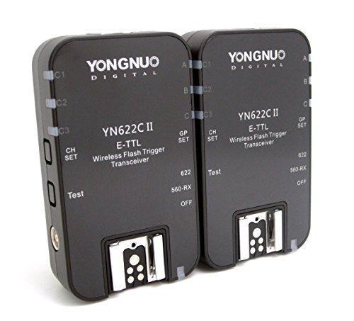 Yongnuo YN-622C II YN 622II 1/8000 E-TTL Funkauslöser Blitzauslöser Auslöser für Canon Kamera mit WINGONEER diffusor