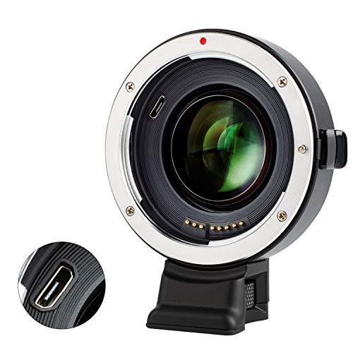 VILTROX マウントアダプター EF-E �U(二代目)0.71X スピードブースター レンズ交換アダプター オートフォーカス 絞り自動調整 CDAFとPDAF対応 レ振れ補正 キャノンEFフルサイズレンズ→ソニーEマウントカメラ装着用