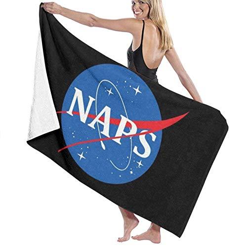 MasakoJMassie Toalla de ducha unisex ligera con logotipo de Naps de secado rápido, toalla de playa