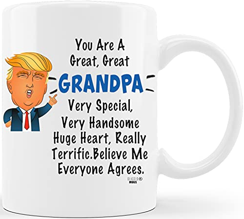 gifts for grandfathers Fathers Day Gifts for Grandpa Donald Trump Terrific Grandpa World's Best Grandfather Ever Funny Ceramic Novelty Gag Gift Ideas for Christmas Birthday Coffee Mug Tea Cup