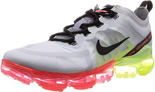 Nike Air Vapormax 2019, Zapatillas de Atletismo Hombre, Multicolor (Pure Platinum/Black/Volt/Bright Crimson 000), 42.5 EU