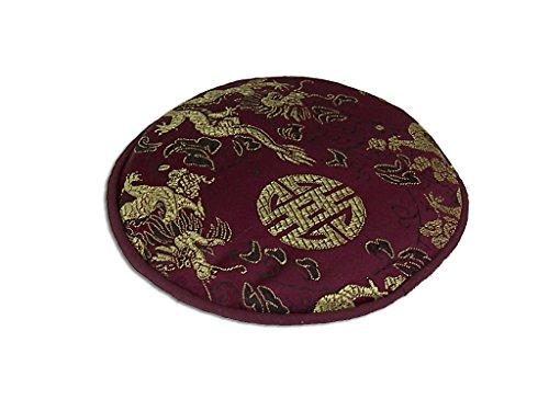 Pad für Klangschale mit verschiedenen tradionellen Mustern Ø ca. 13 cm -9865- (violett Drache) in verschiedenen Farben erhältlich