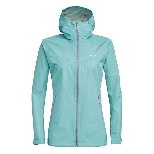 Salewa Aqua 3.0 PTX Jacke Hardshell Regenjacke Damen, Farbe:Hellblau, Damen Größen:48