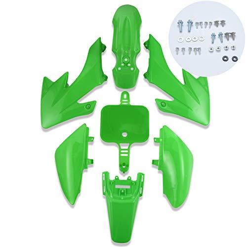 CLEO Plastic Fender Fairing Body Work Kit Set,Plastic Body Fender Kit 7 piece for CRF50 Chinese Mini Dirt Bikes