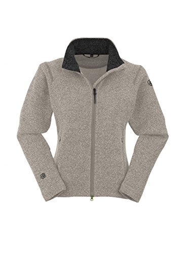 Maul dames outdoor gebreide fleece jas fleece jack BRIXEN beige
