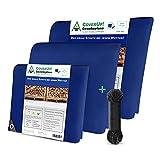 CoverUp! Lona Impermeable Exterior 2 x 3 m [120 g/m2] & Cuerda de 12 m, Lona de protección con Ojales para Muebles de jardín, Piscina, Coche, Camiones, Resistente a la Rotura