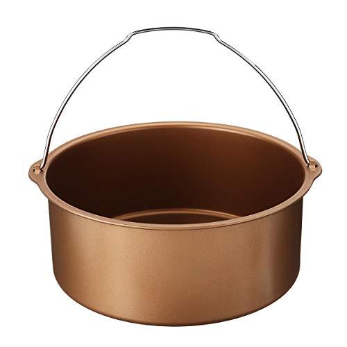 MNAD 1,8 l aria friggitrice pane cottura cestino torta pan forno ad aria calda appurtenance (colore : oro)