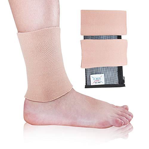 CRS Cross Gel-Knöchelmanschetten – gepolsterte Skates-Socken Knöchelschutz (Eiskunstlauf, Hockey, Roller, Inliner, Reiten, Ski oder Reitstiefel) (2 Gel-Ärmel neu)