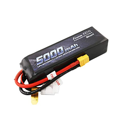 Gens Ace Lipo Akku 5000mAh 11.1V 50C 3S1P Lipo in kurzer Größe mit XT60-Stecker für Race Ferngesteuertes Auto Traxxas ect