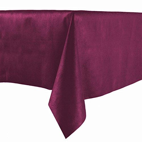 Lot de 20 nappes en papier bord bordeaux 100 x 100 cm tissu non tissé similaire au tissu, nappe en papier à sec