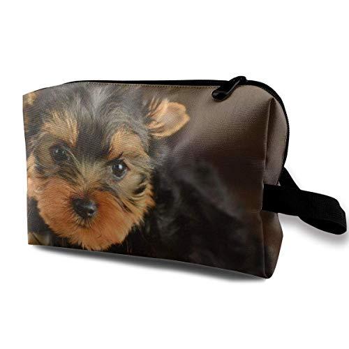 Sac de rangement pour produits cosmétiques et cosmétiques Yorkies - Pour chiens et femmes - Grande capacité