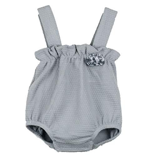 CALAMARO - Peto Pom Pom bebé-niños Color: Gris Talla: 1M