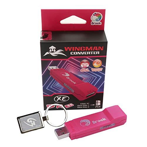 Mcbazel Brook Wingman XE-Konverter für Xbox 360/Xbox One/Xbox Elite 1 & 2 Controller auf PS4-Konsole/PC mit Schlüsselanhänger