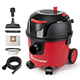 Vacmaster VZA306P 1101 Canister Vacuum 3 Gallon Corded Dry Vacuum Cleaner Residential Commercial Bagged Cord Rewind Carpet & Hard Floor Tool 26ft Long Cord 1-1/4 Inch Hose