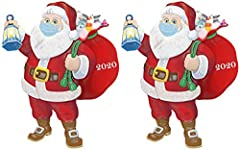 THE MUST-HAVE CHRISTMAS TREE ORNAMENT OF 2020: This one-of-a-kind 2020 Santa Claus Ornament is a fun and funny way to commemorate 2020 - and we can all use a laugh these days! SANTA SPREADS CHEER SAFELY: Santa wears a mask in a sign of these pandemic...