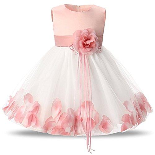 Vestido de Bautizo de Niña Vestido de Noche Floral para Bebés Ceremonia de Boda Princesa Vestido de Cóctel Sin Mangas