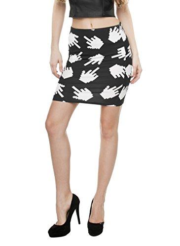 Damen Mädchen Damen Mini Rock Shorts Kleid Slim Thin High Waist Fashion Kleid Bandage Stretch Party Rock Full Printed Gr. One size, Pixel Ficken