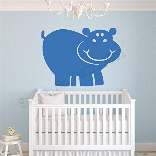 zqyjhkou Wall Sticker Cute Hippo Animals Home Decor Vinyl Removeable Room Decoration Beautiful Poster Art DIY Mural 58x79cm