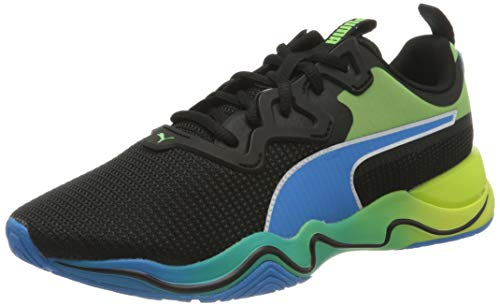 PUMA Zone XT Multi, Zapatillas de Gimnasio Hombre, Negro Black White/Nrgy Blue/Fizzy Yellow/Elektro Green, 47 EU