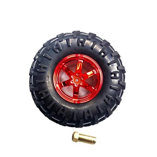 unknow 130 mm Gummireifen und Kunststoffräder für RC HSP 94111 94188 94108 - Rot, wie beschrieben