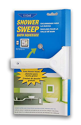 Ettore Shower Sweep Squeegee, White
