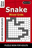 Snake puzzle book for Adults: 400 Medium Puzzles Mixed Grids (Volume 24)