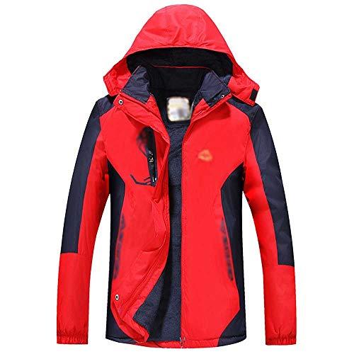 Lzcaure Chaqueta de esquí para hombre OutdoorWarm Snow Ski Jacket resistente al viento con capucha impermeable chaqueta de invierno a prueba de viento (color: azul, tamaño: M)