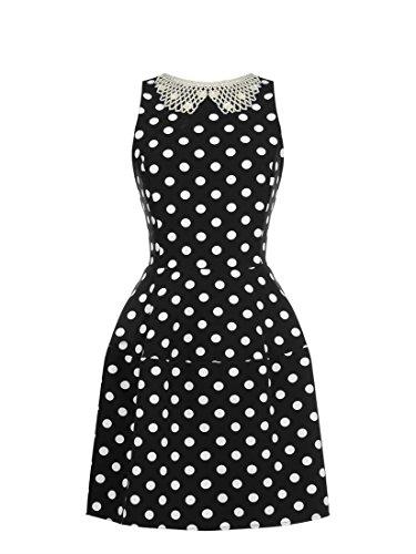 RINASCIMENTO Rimascimento, Damen Jersey-Kleid mit Perlenkragen Gr.M