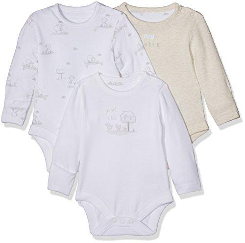 Mothercare Mothercare Unisex Baby My First Little Lamb Schlafanzugoberteil, Weiß (White 61), 3-6 Monate