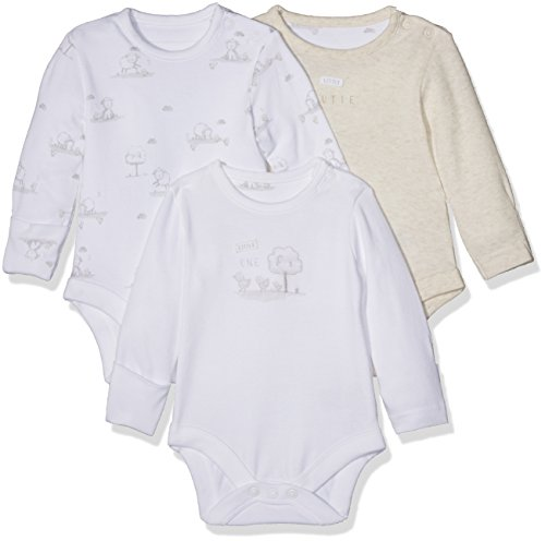 Mothercare Mothercare Unisex Baby My First Little Lamb Schlafanzugoberteil, Weiß (White 61), 3-6 Monate