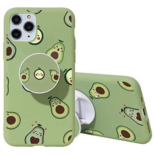 Yoedge Coque iPhone 6 / 6s avec Support de Bague, Etui en Silicone avec Motif 3D Dessin TPU Antichoc Souple Housse de Protection Case Cover Coques pour Apple iPhone 6 / 6s, Vert Avocat