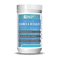 Distiller Cleaner Descaler (2 LBS), Citric Acid - Universal Application for Waterwise, Natural & Safe – Deeply Penetrates LimeScale & Water Mineral Build-up by Essential Values