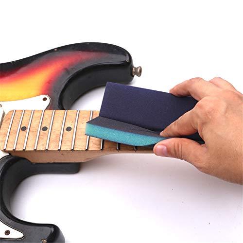 Redcolourful Papier de Verre éponge de Polissage Double Face Mince pour Couleur aléatoire de Touche de Guitare