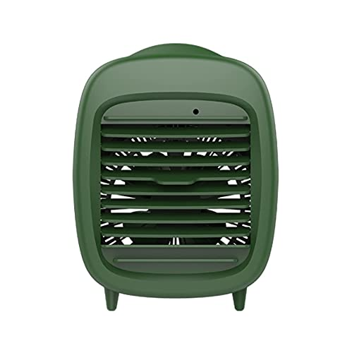Enfriador de aire personal 4 en 1, Mini acondicionador de aire portátil, humidificador de humidificador de humidificador de refrigerador evaporativo Ventilador de escritorio con 3 velocidades del vien