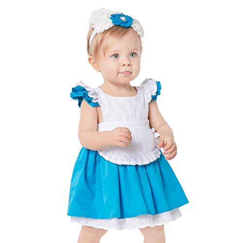LOLANTA Costume di Halloween per Bambino Costume da Principessa per Neonato (6-12 Mesi)