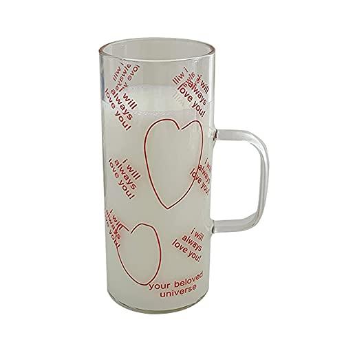 XDYNJYNL Bonita taza de vidrio, vasos para beber Highball Vasos de agua transparente con base pesada, vasos de cóctel altos, tazas de café, tazas de café expreso, tazas de vidrio para jugos caseros, u