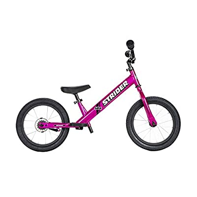 Strider - 14x Sport Balance Bike, Ages 3 to 7 Years, Pink - Pedal Conversion Kit Sold Separately