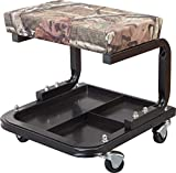 Torin TR6300MO Mossy Oak Camo Rolling Creeper Garage/Shop Seat: Padded Mechanic Stool with Tool Tray