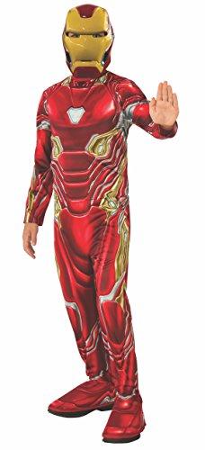Avengers - Disfraz oficial de Iron Man para nios, Infinity War, talla 8-10 aos (Rubies 641051-L)
