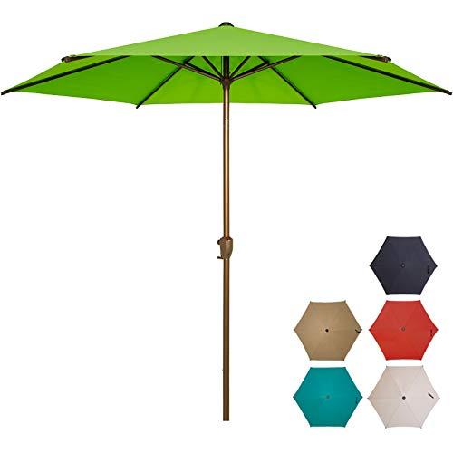 Ogrmar 7.5 FT Patio Umbrella Outdoor Table Umbrella with Push Button Tilt and Crankfor Terrace, Backyard, Garden, Courtyard, Swimming Pool, Lawn (Pear Green)