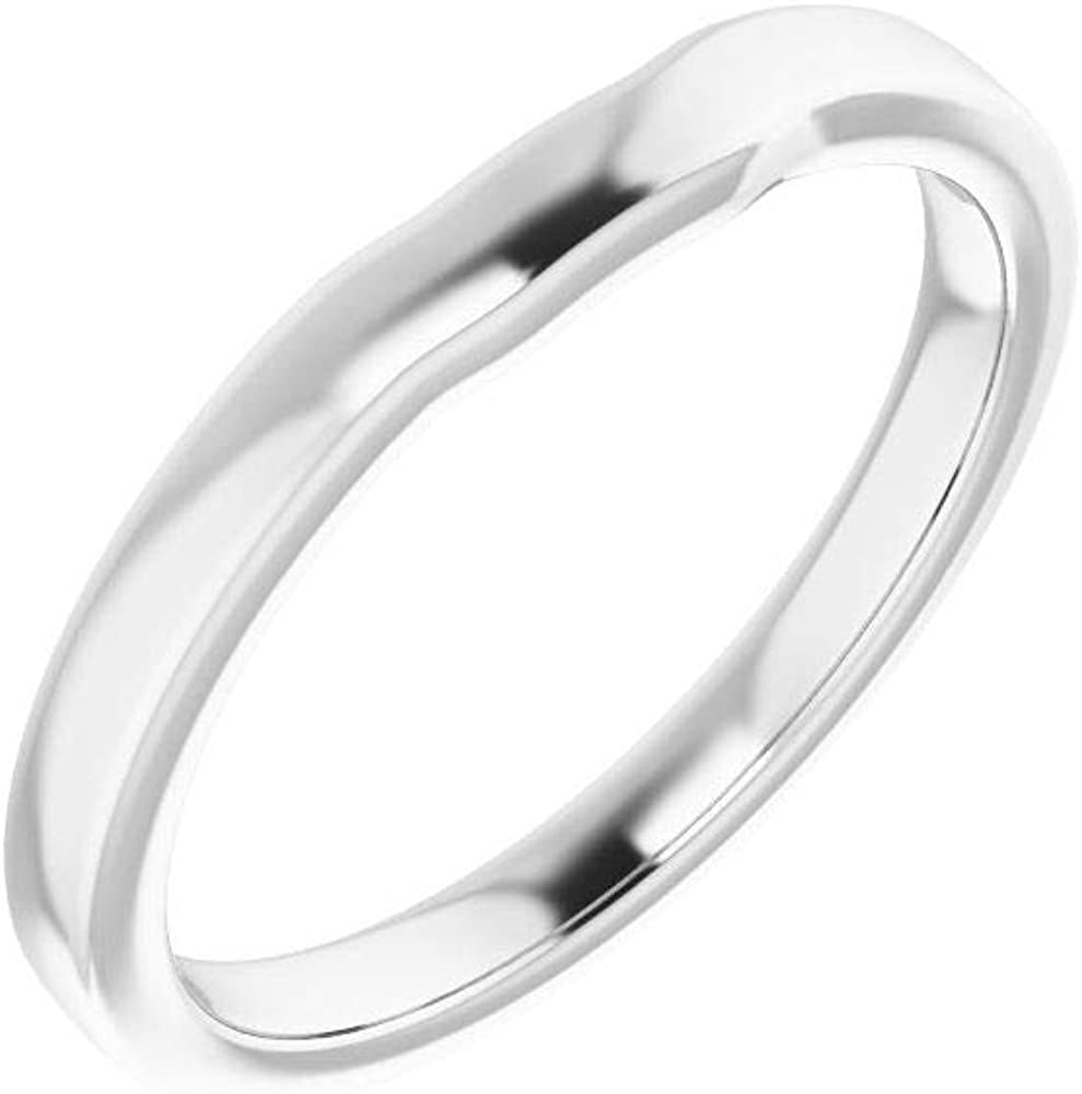 Solid 10K White Max 58% OFF Gold Curved Notched Wedding 7mm Squ Dealing full price reduction for x Band 7